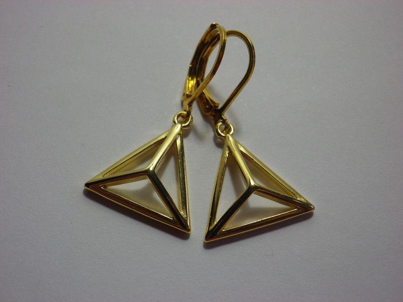 Ohrhänger - Ohrhänger Dreiecke - ein Designerstück von sibea bei DaWanda