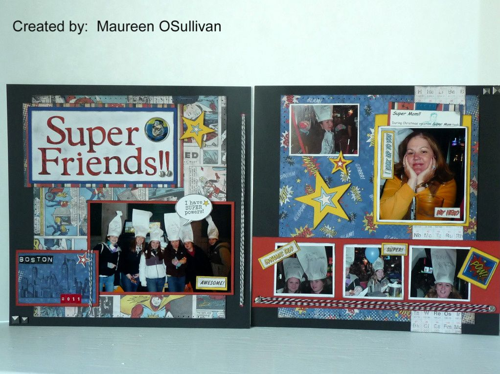 CTMH Superheros layout created by Maureen O'Sullivan