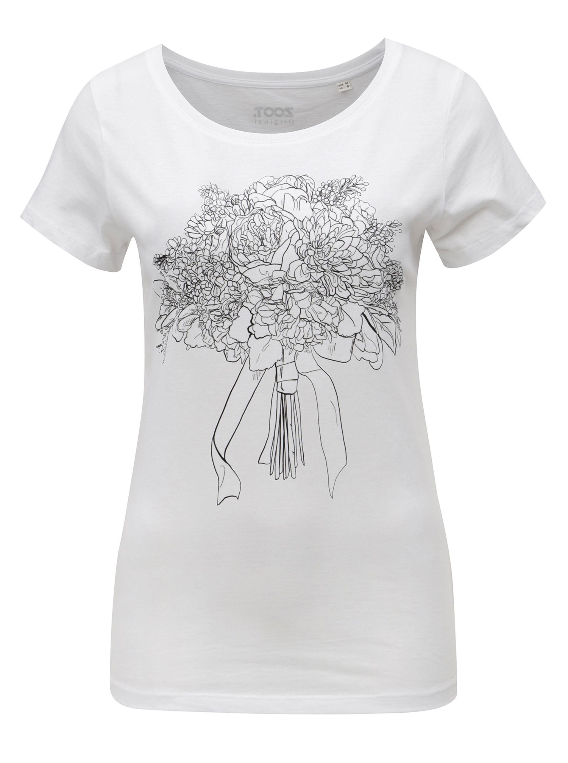 Typ  dámské tričko s krátkým rukávem a potiskem Barva  bílá 9ac8c4c2eb