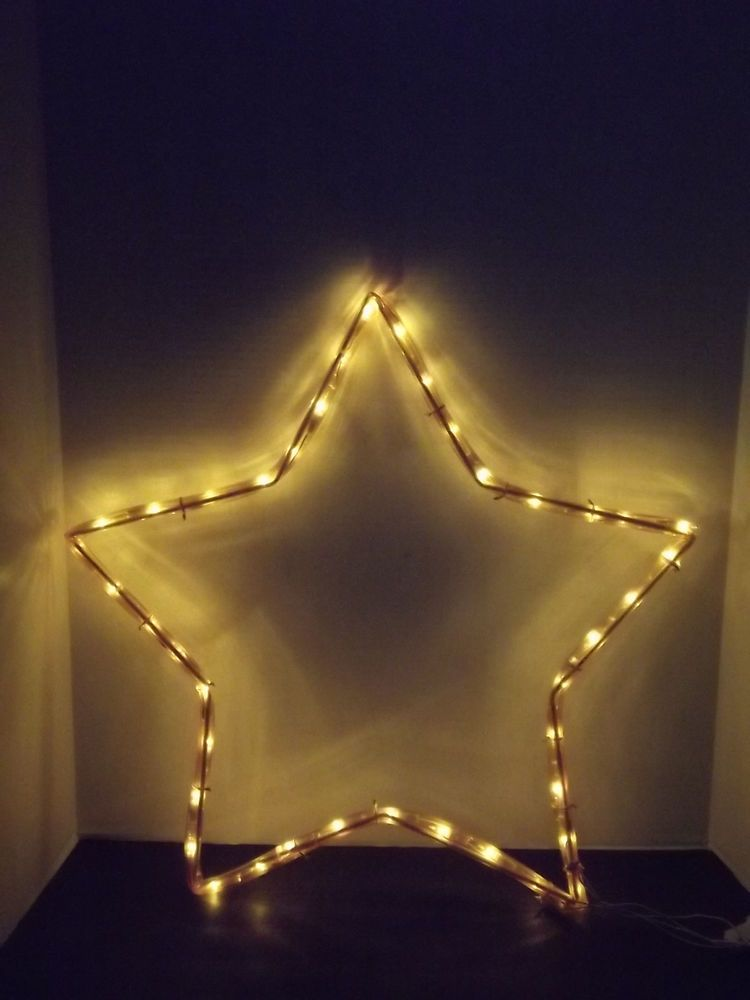 mr christmas light sculpture 23 inch lighted star indoor or outdoor decoration - Mr Christmas Outdoor Decorations