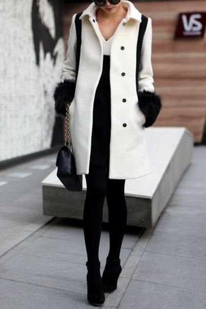 Black And White Coat