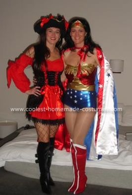 Wonder Woman u0026 Superman I was initially inspired by costumes on this website. I have always wanted a Wonder Woman Halloween costume but never found the ...  sc 1 st  Pinterest & Cool DIY Wonder Woman Halloween Costume | Pinterest | Wonder woman ...