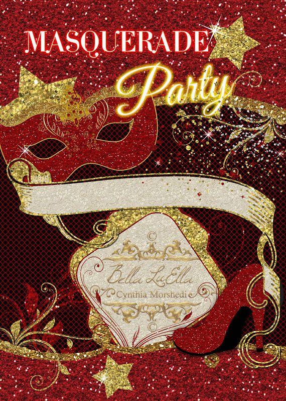 Masquerade Invitation Blank Downloadable Masquerade Invitations Masquerade Invitations