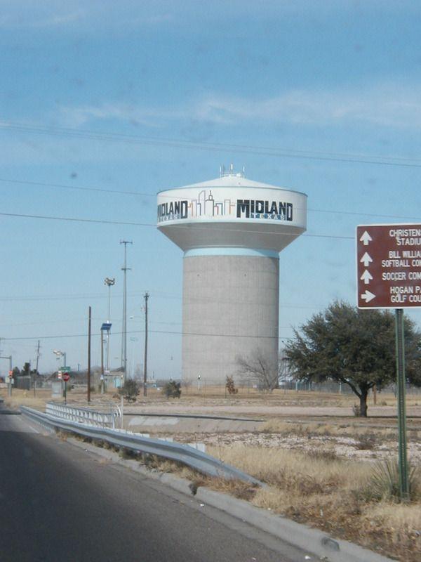 Midland, TX : Midland City Water tower | Midland is Home