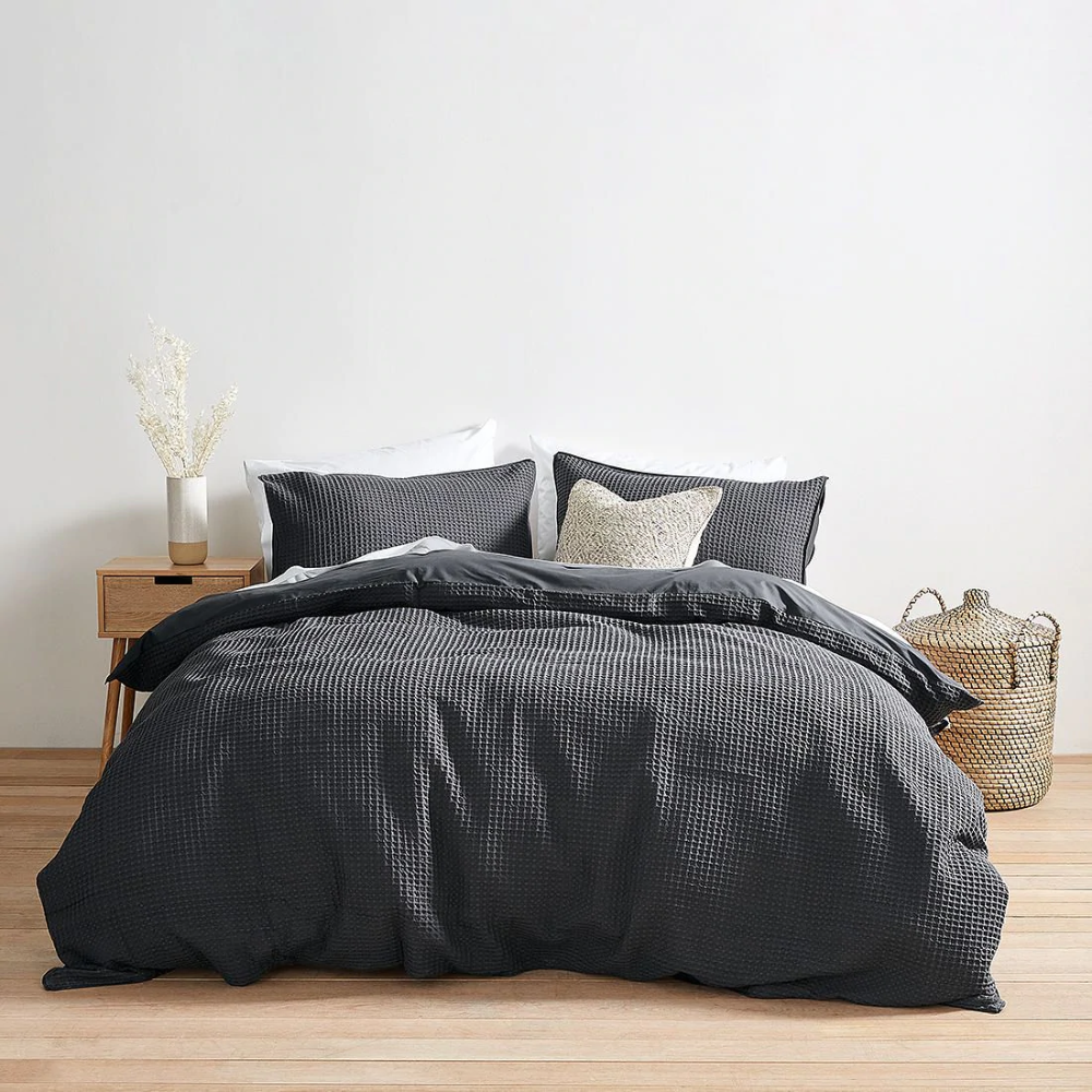 Warner Textured Quilt Cover Set Dark Grey Target Australia In 2020 Quilt Cover Sets Interior Design Bedroom Small Quilt Cover