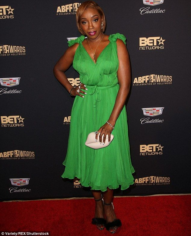 Hitting the right notes? Singer Estelle made sure all eyes were on her as she arrived at t...