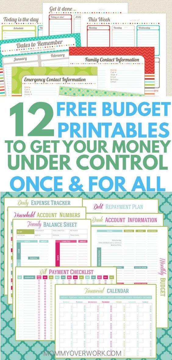 12 Free Printable Budget Worksheets to GET CONTROL OF YOUR MONEY - free printable budget spreadsheet
