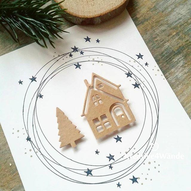 """Janina on Instagram: """"Ich komme gut vorran mit dem Weihnachtskarten basteln. Wie gefällt Euch die heutige Karte? Ich wünsche Euch einen guten Start ins…"""""""
