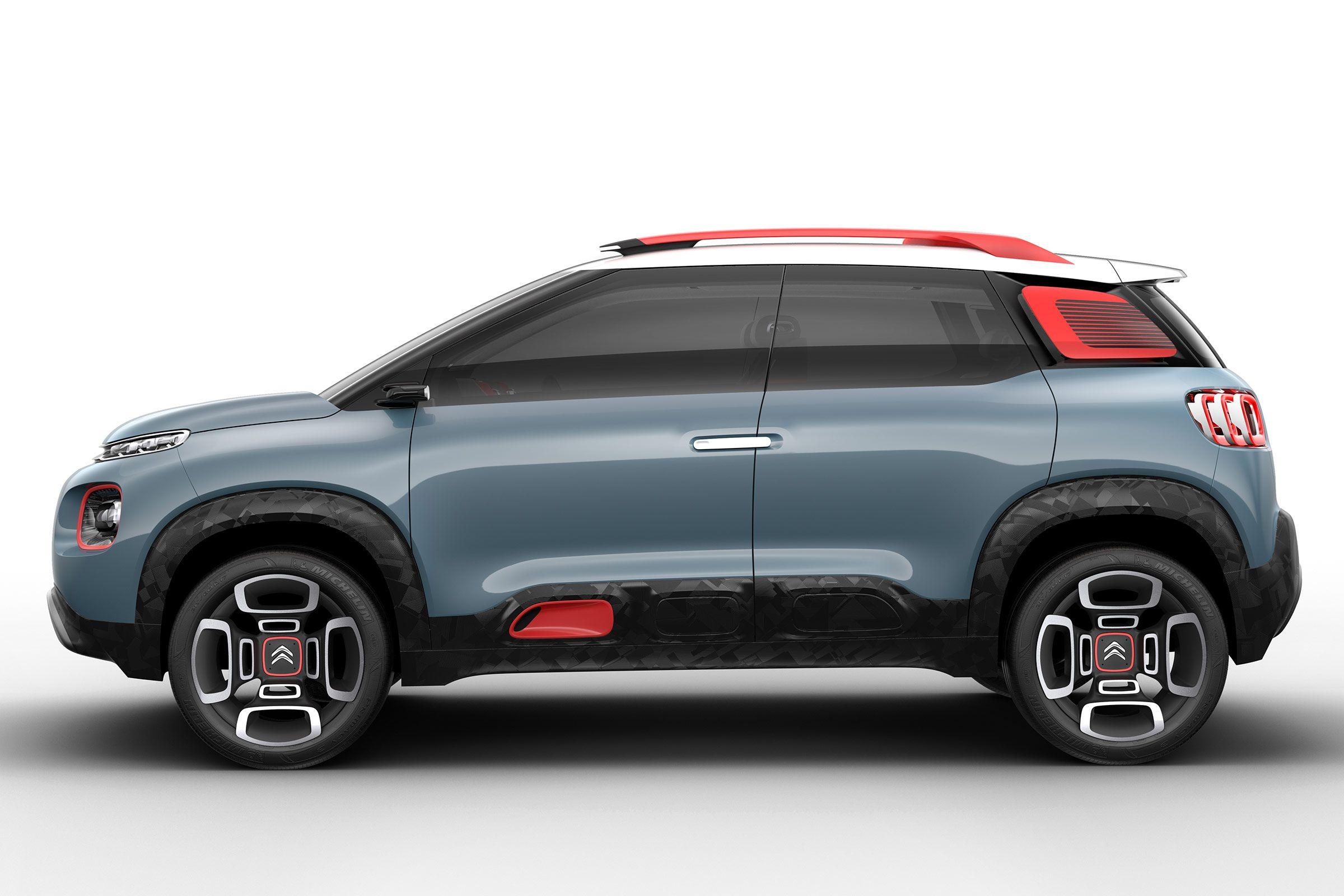Citroen C-Aircross Concept 2017 - pictures | Citroen C-Aircross Concept 2017 - side | Auto Express