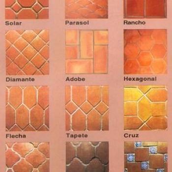 Piso recubrimeinto loseta artesanal de barro natural o - Loseta para piso economica ...