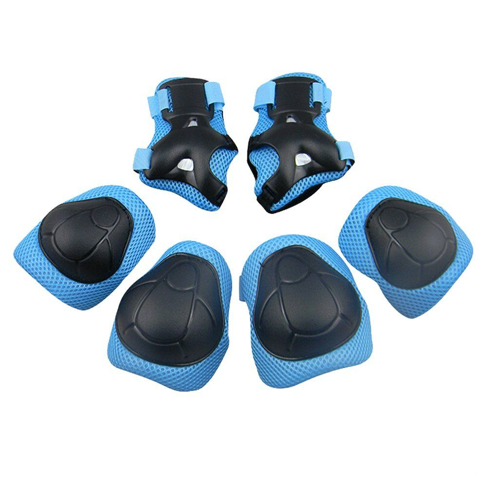 6pcs Protective Pads Set Elbow Knee Safety Supplies Unisex Gear Riding