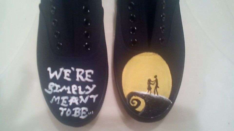 """Tim Burton's Nightmare Before Christmas with the quote, """"We're Simply Meant to Be"""""""