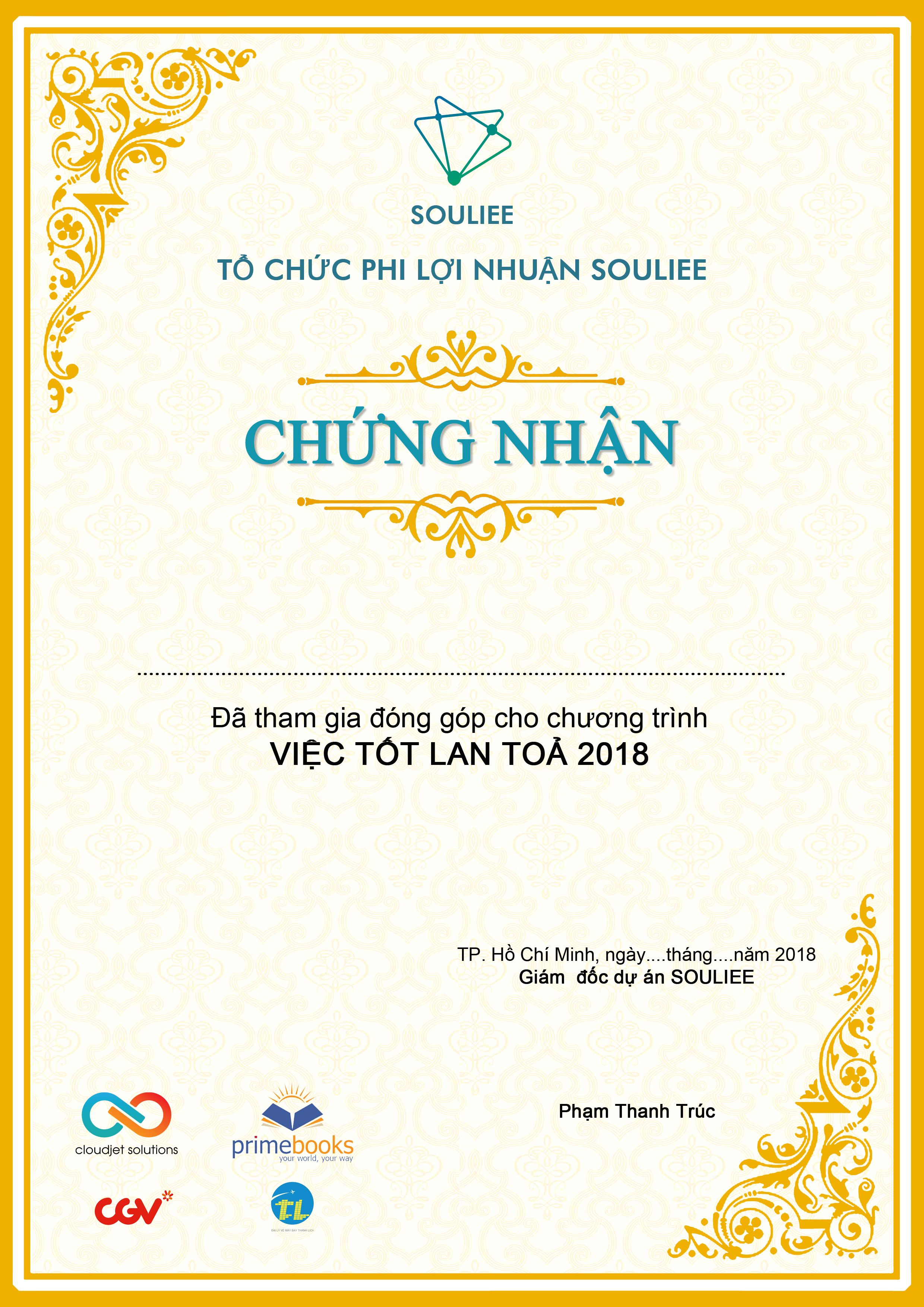 Design Certificate For Non Profit Organization Souliee Graphic