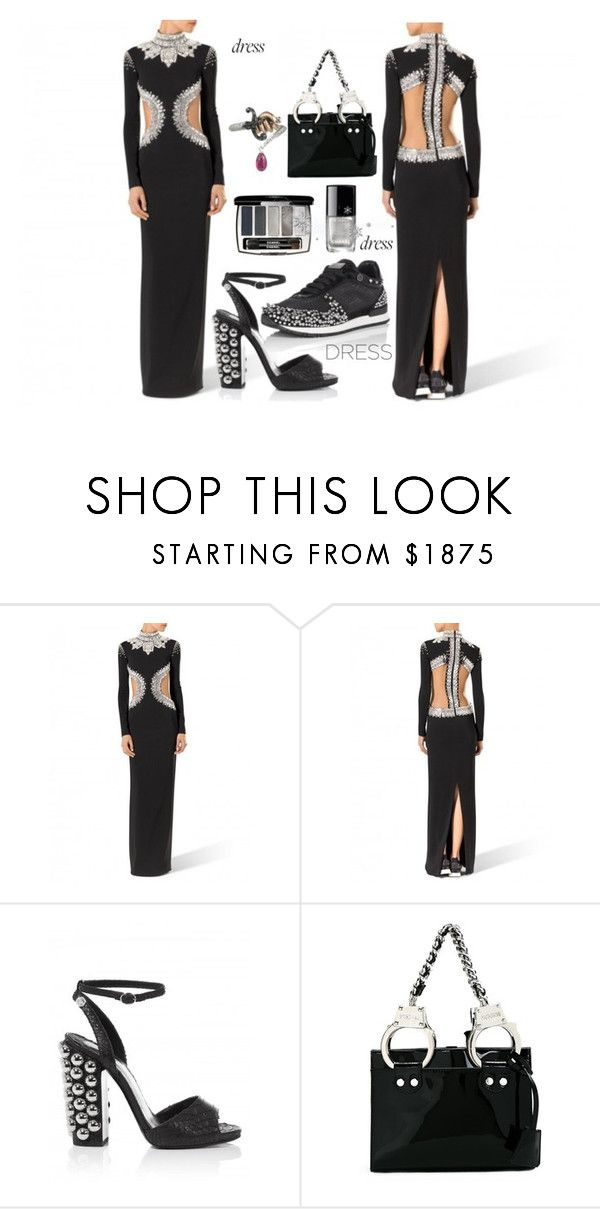 """""""perfect holiday dress"""" by alenaglush ❤ liked on Polyvore featuring Chanel and Moschino"""