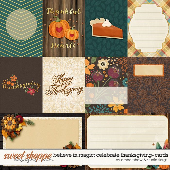 Beleive in Magic: Celebrate Thanksgiving Cards by Amber Shaw & Studio Flergs