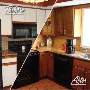 cabinet resurfacing ideas after before fha kitchen home beofre cabinets pinterest pin standard decorating