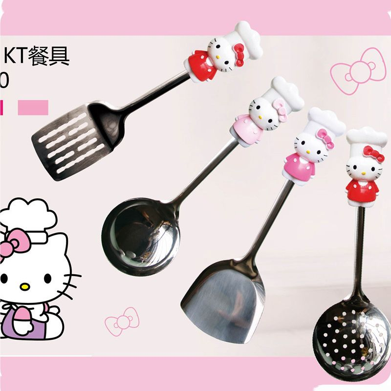 Hello Kitty Kitchenware Stainless Steel Multi-Purpose Spatula/Colander/Hollow spatula Kitchen Tools Utensils C9 casserole