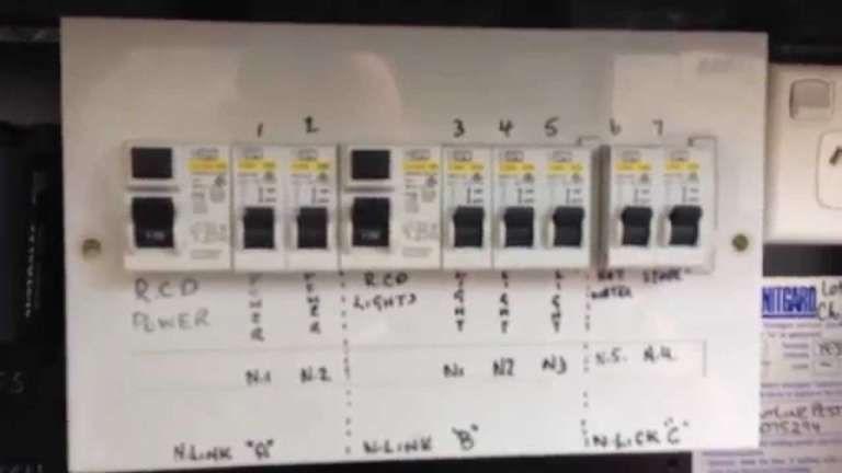Diagram Typical Australian Domestic Switch Board