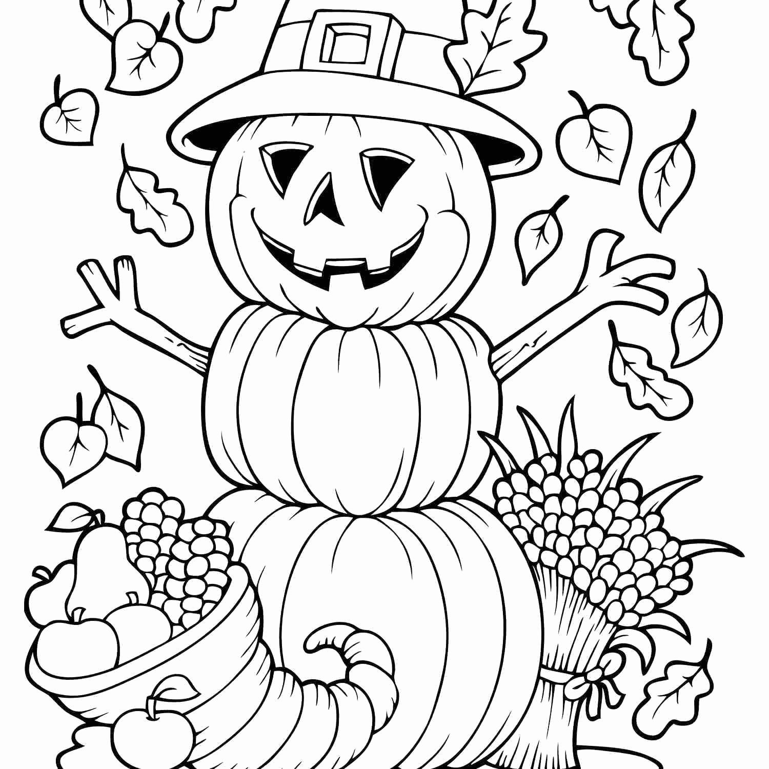 Free Fall Coloring Pages Preschool Di