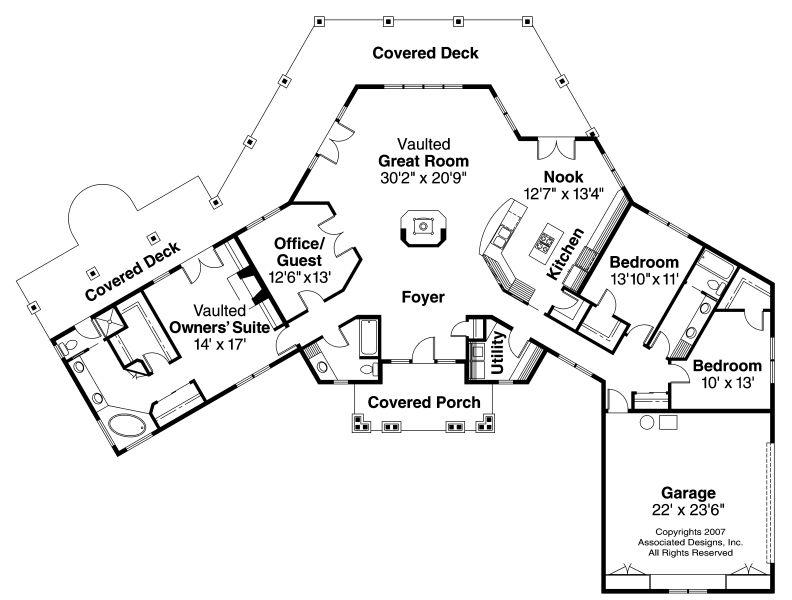 hexagon house plans - Bing Images | House plans | Pinterest ...