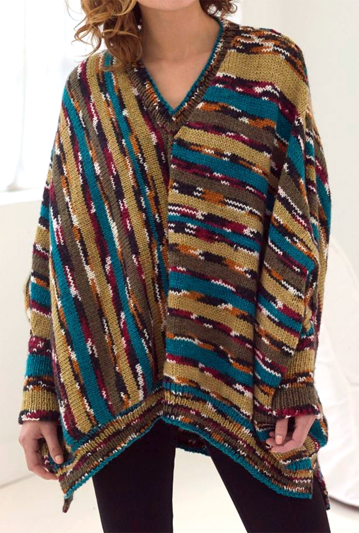 Sleeved Poncho Knitting Patterns- In the Loop Knitting in ...