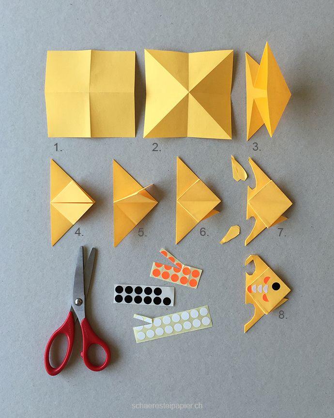 Wir Basteln Ein Diy Aquarium Mit Euch Hallo Bloggi Fische Basteln Basteln Origami Fur Kinder