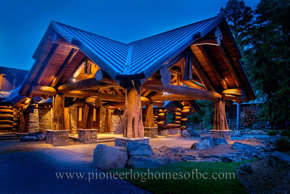 Custom Log Homes Picture Gallery Gates And Port Cochere