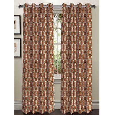 Alcott Hill Russel Extra Wide Geometric Sheer Grommet Curtain