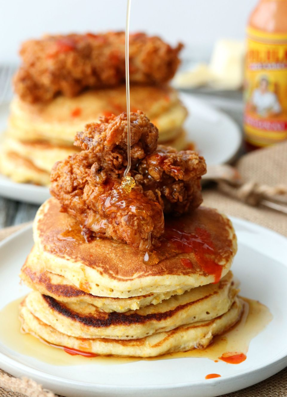 Buttermilk Fried Chicken And Cornmeal Pancakes Fried Chicken And Waffles Buttermilk Fried Chicken Cornmeal Fried Chicken