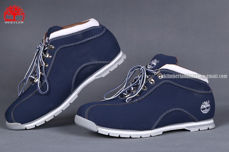61bf81f30cc Timberland Men's Euro Sprint Hiker Leather Ankle Boot Navy-Blue ...