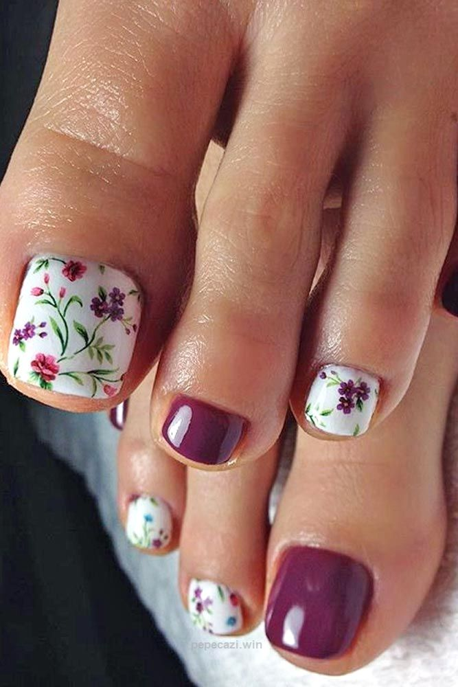 Beautiful Toe Nail Designs picture 2… | Flower Designs | Pinterest ...