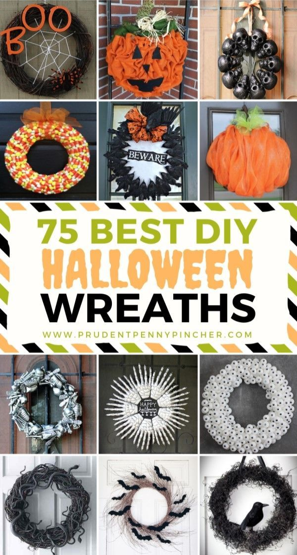 75 Best DIY Halloween Wreaths Do It Yourself Today Pinterest
