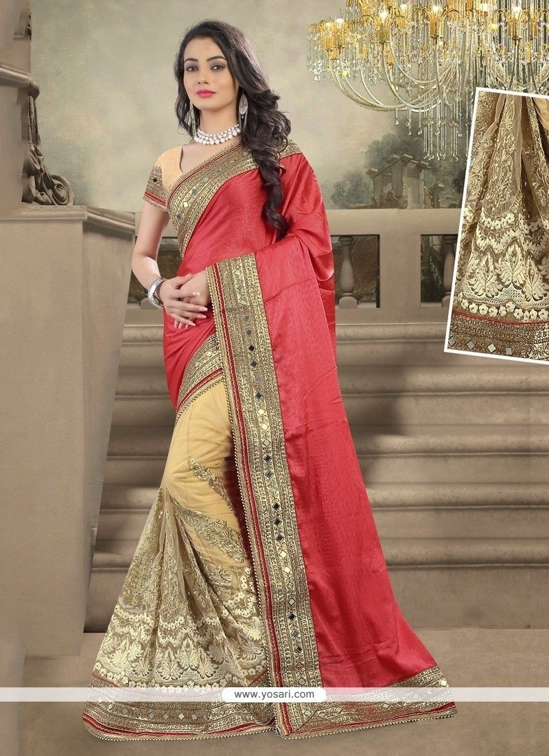 b96da56938 Sophisticated Embroidered Work Designer Saree | Things to Wear ...