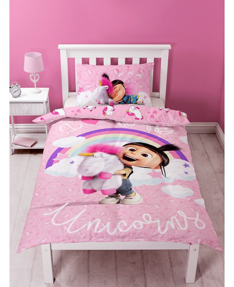 Emoji Unicorn Double Duvet Set Purple Pillow Official Emoji Licensed Product