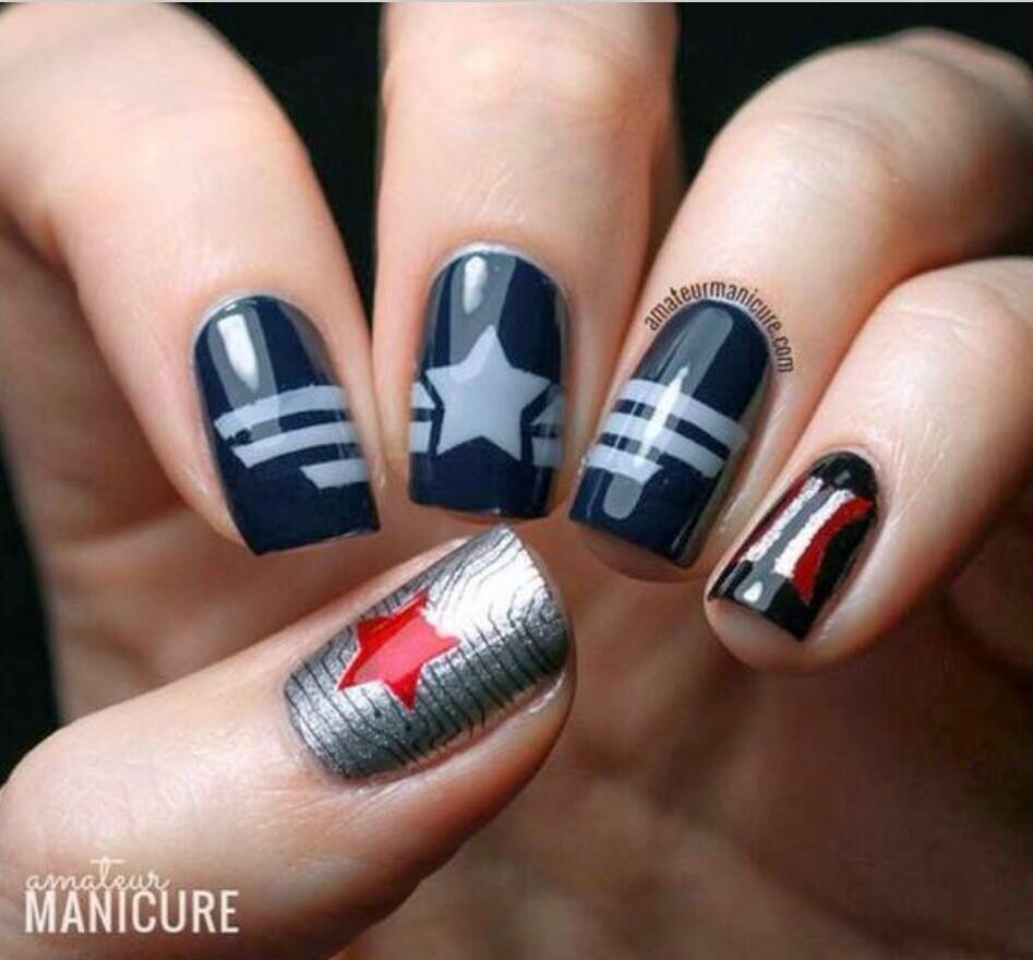 Captain America Winter Soldier nails