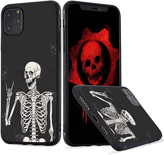 soft iphone case skeleton iphone case Girly iphone case iphone xr case iphone 11 skull case cool iphone case iphone 6s skull case