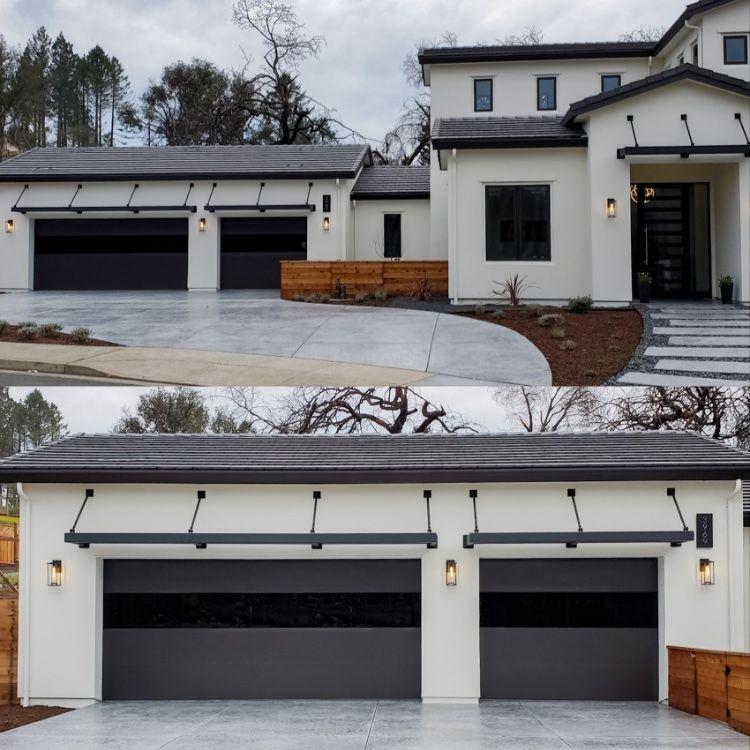 Sterling Garage Doors On Contemporary Custom Home In 2020 Modern