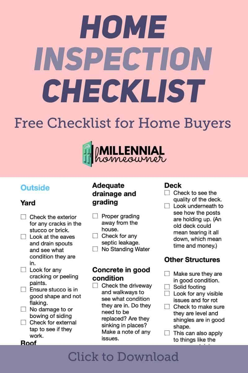 Before You Make An Offer Use This Home Inspection Checklist To See If There Are Items To Inspect This Home Inspection Inspection Checklist New Home Checklist