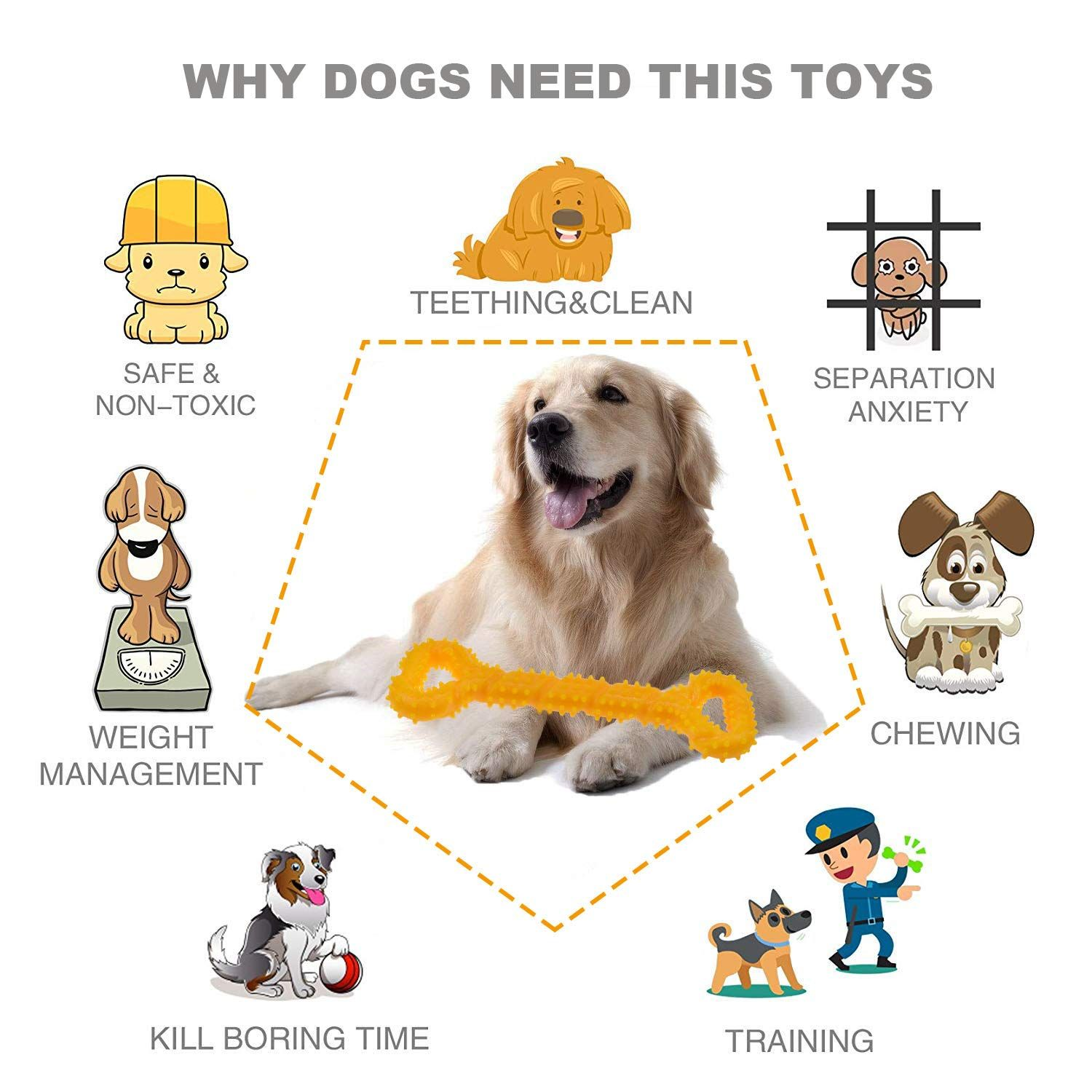 Amazon Com Blueisland Durable Dog Chew Toys 13 Inch Bone Shape Extra Large Dog Toys With Convex Design Strong Tug Toy For A Dog Toys Online Pet Supplies Dogs