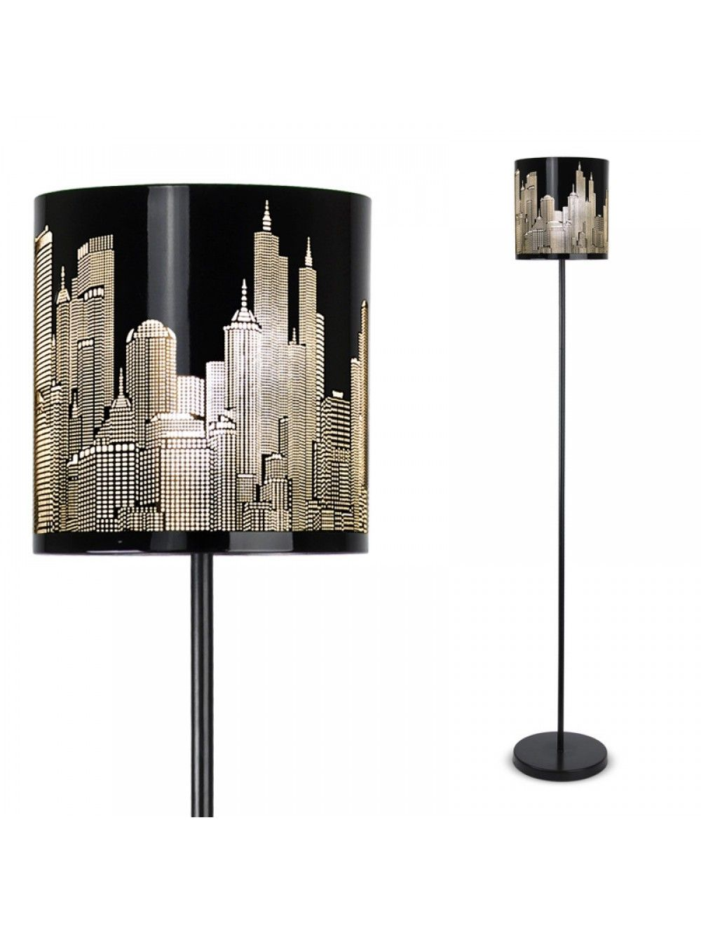 Stylish New York Skyline Metal Floor Lamp in Painted Gloss Finish ...