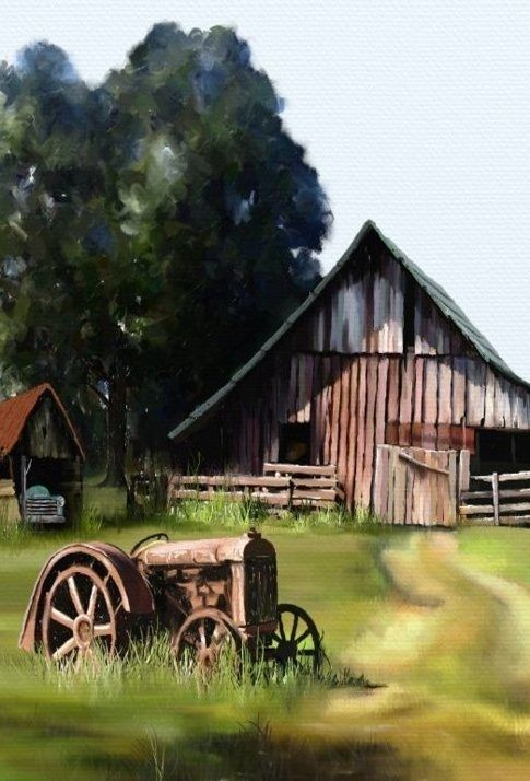 10 Great Old Tractor And Barns With Images Barn