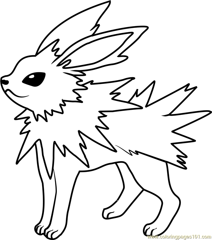 Jolteon Pokemon Coloring Pokemon Coloring Pages Cute Coloring Pages