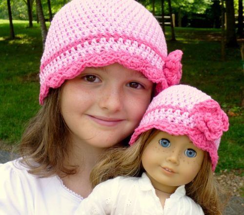 I'm ready for Spring!!!! Waiting for Spring, Crochet Flapper Hat pattern by Darleen Hopkins #CbyDH http://www.ravelry.com/patterns/library/waiting-for-spring-flapper-hat-with-rose