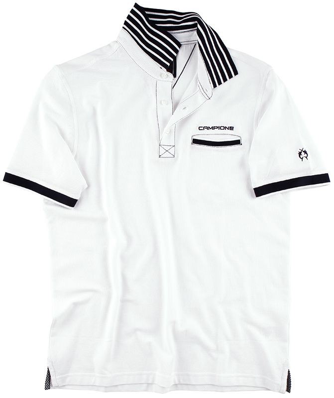 Das Weisse Poloshirt Aus Der Yachting Kollektion Von Claudio Campione Beeindruckt Mit Dem Gestreiften Kontrastkragen Polo Hombre Camisetas Hombres