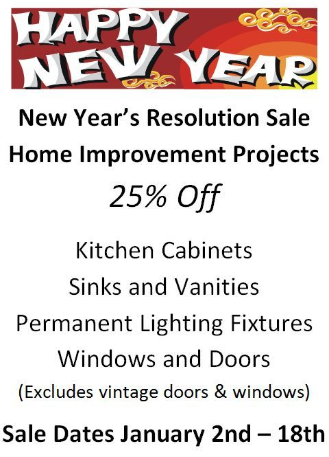 New Years Resolution Sale
