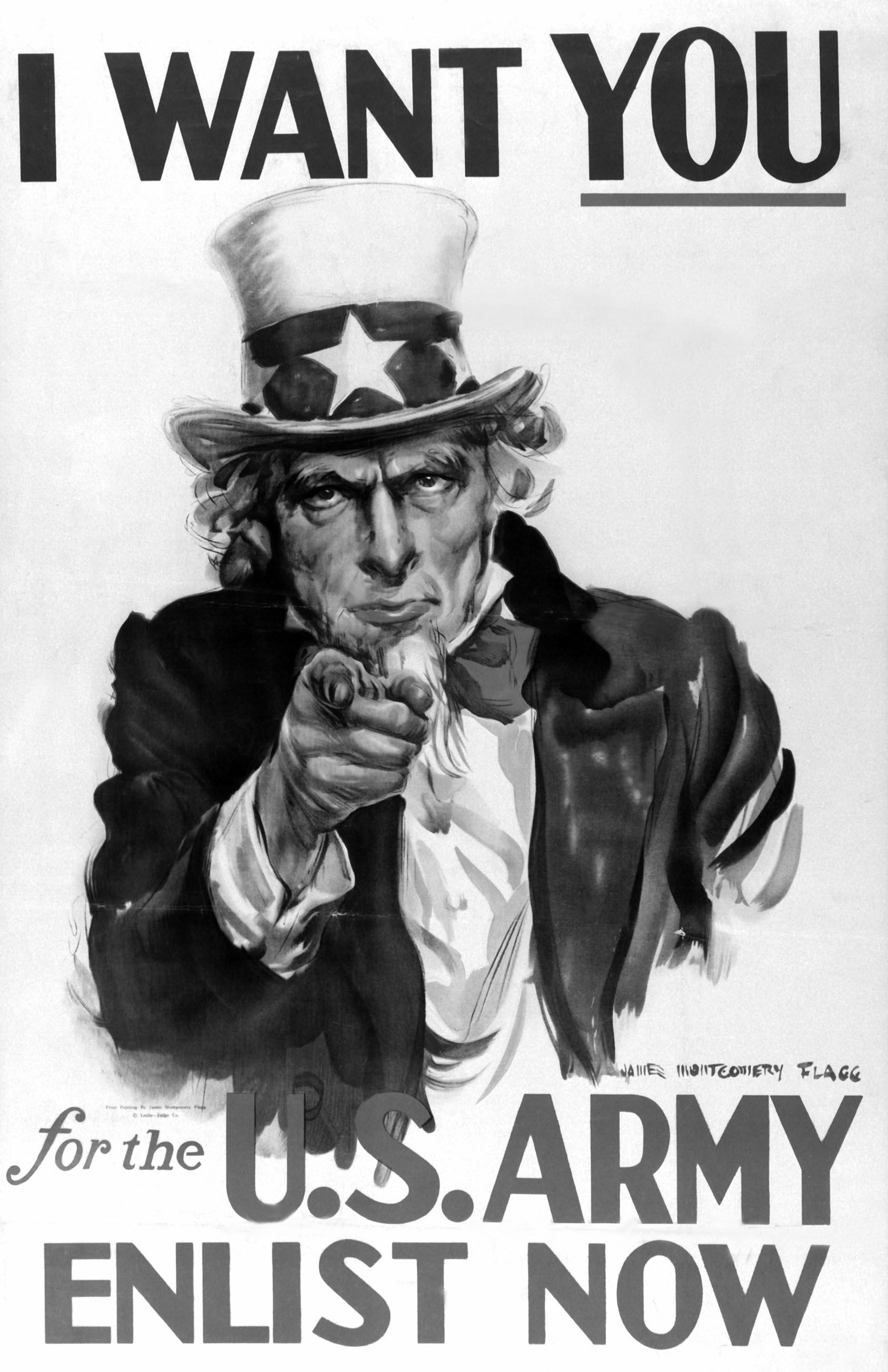 Uncle Sam Is The Man In The Picture And This Is The Poster They