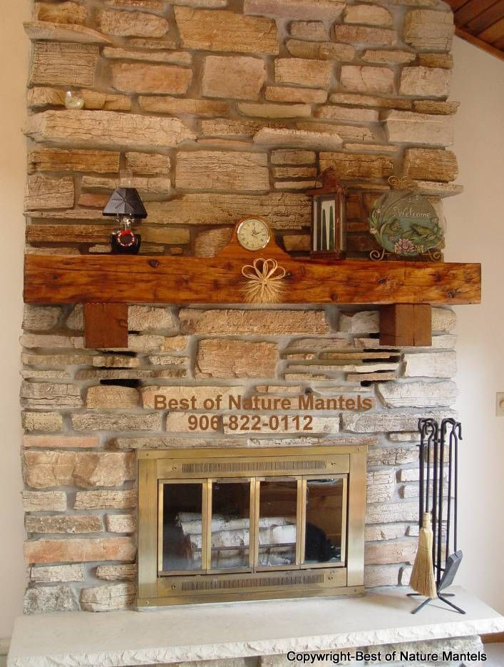 Reclaimed Wood Fireplace Mantel Wisconsin 707