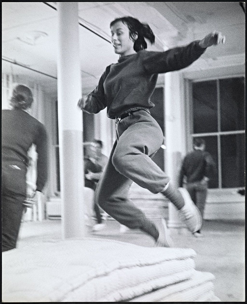 The Getty Research Institute Yvonne Rainer rehears