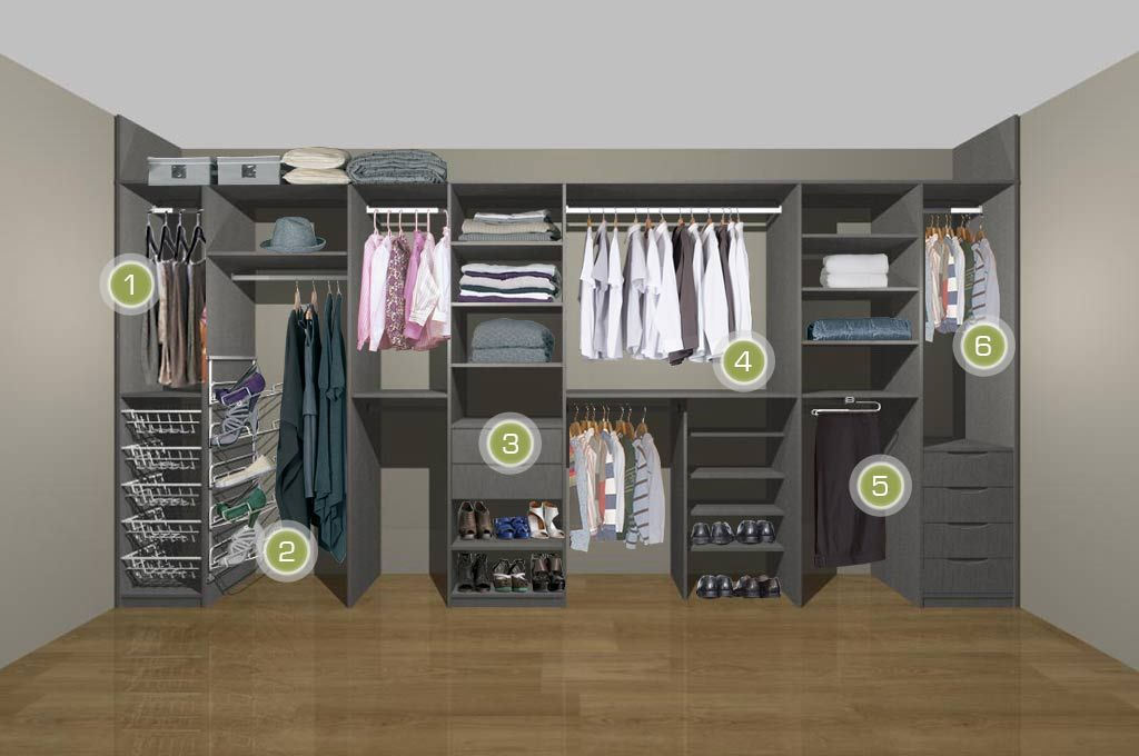 His Her Fitted Wardrobe Storage White 1 Wardrobe Storage Fitted