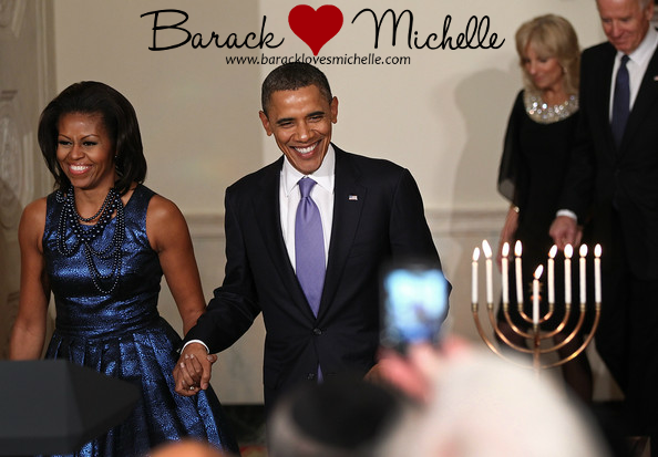 The Obamas & The Bidens at the White House Hanukkah Reception |